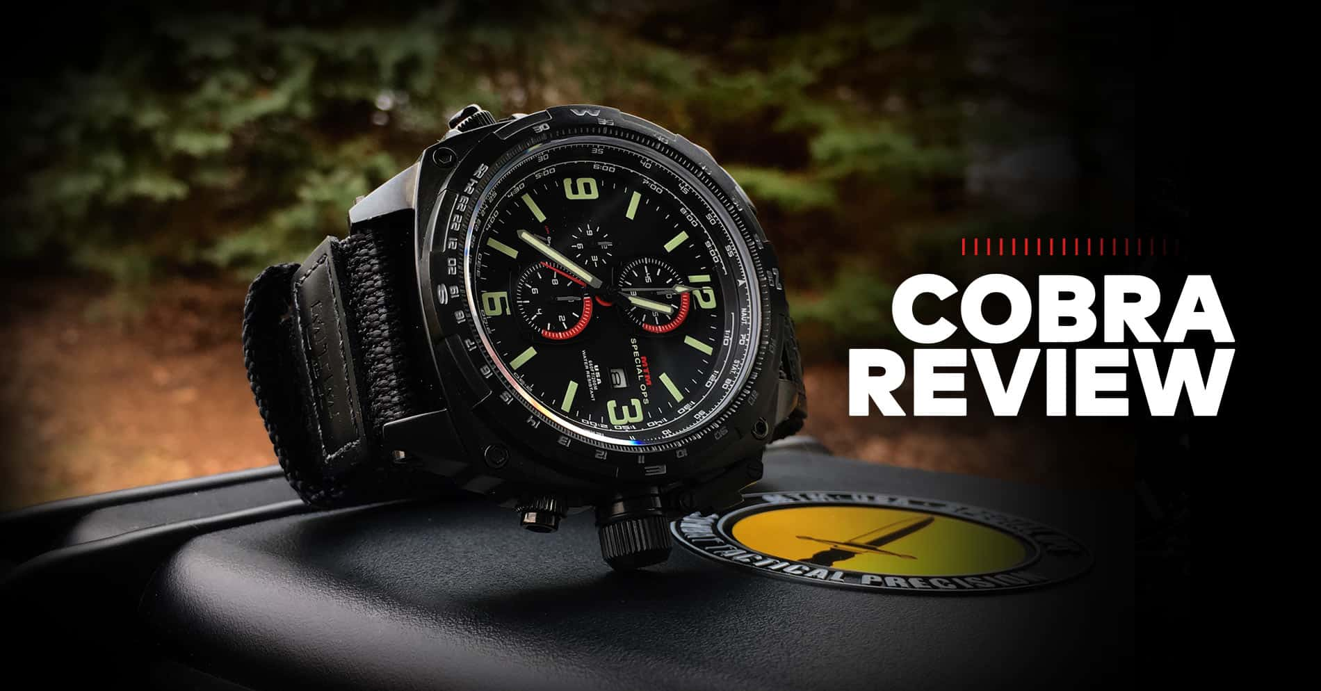 MTM Black Cobra Watch Review