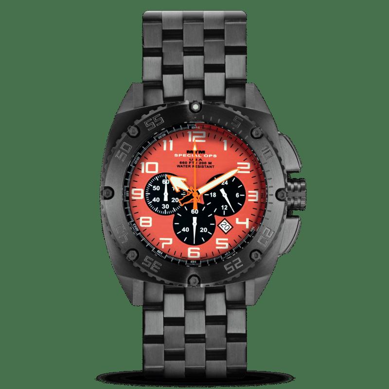 MTM Black Patriot Orange Dial